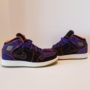 half off b3aa6 62085 Nike Shoes - Air Jordan 1 Phat Gs Black Purple Orange-green